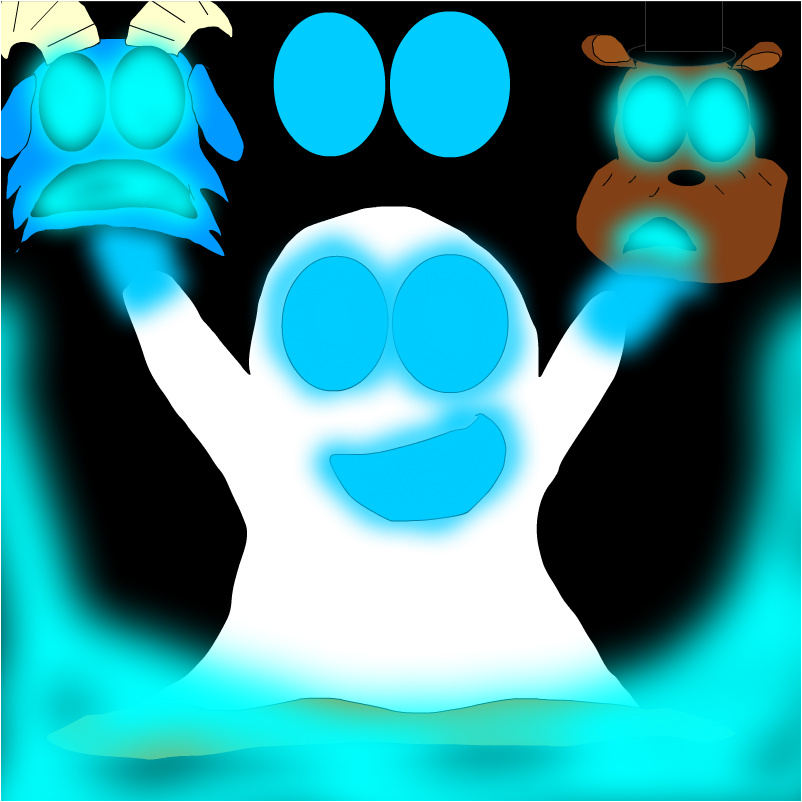 the ghost lights, blue!