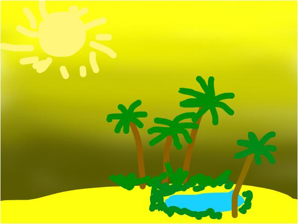 ЖИВОЕ место в пустыне