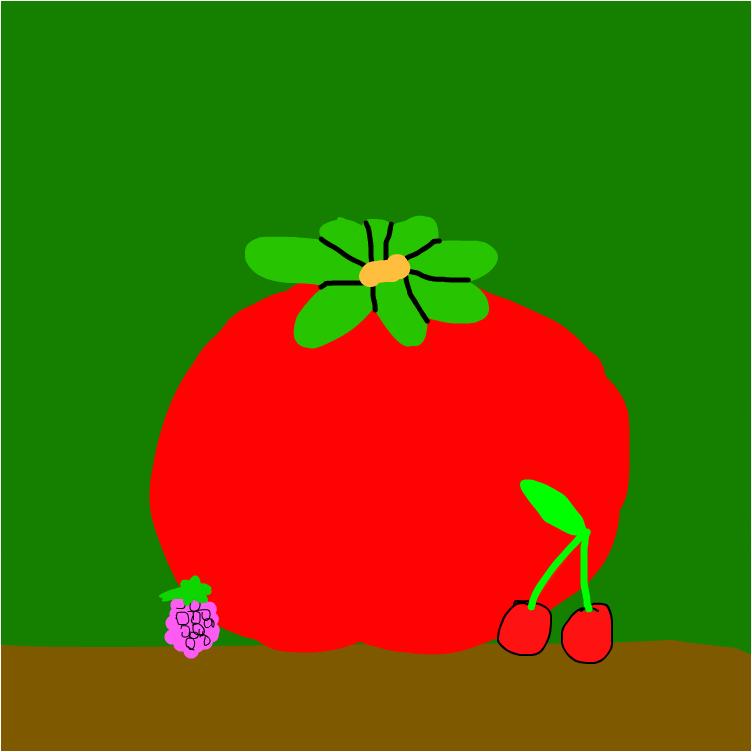помидор вишенки и малина