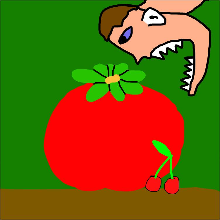 кто-то хочет съесть помидор