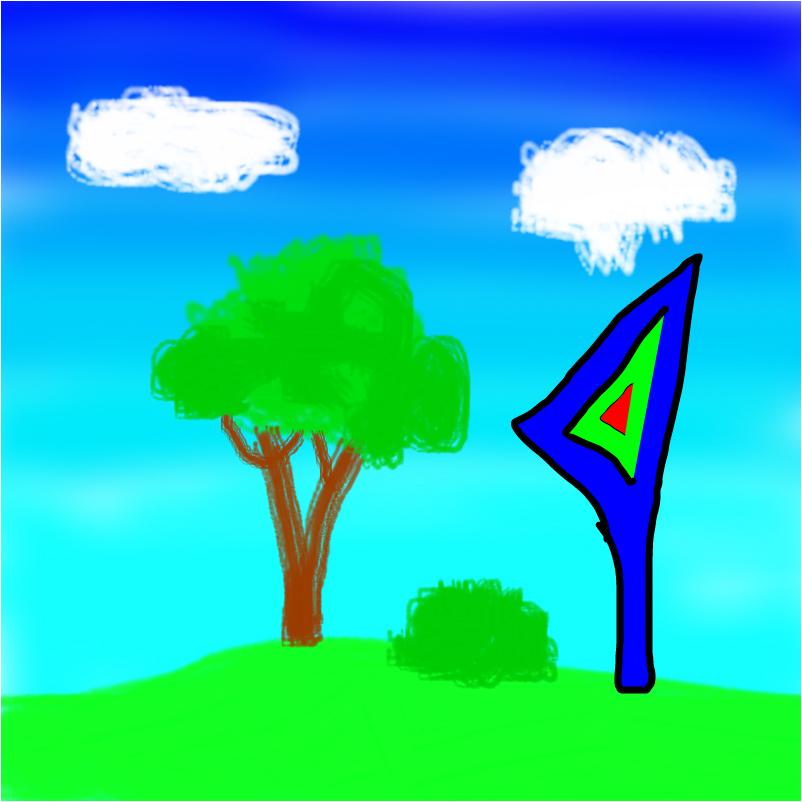 дерево, куст и непонятная штука | Slimber.com
