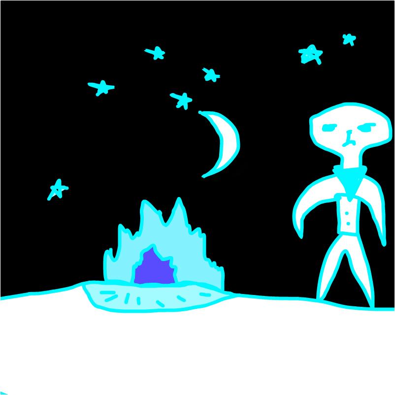 макаростор и голубой костёр.