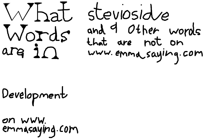 Words that are not on www.emmasaying.com