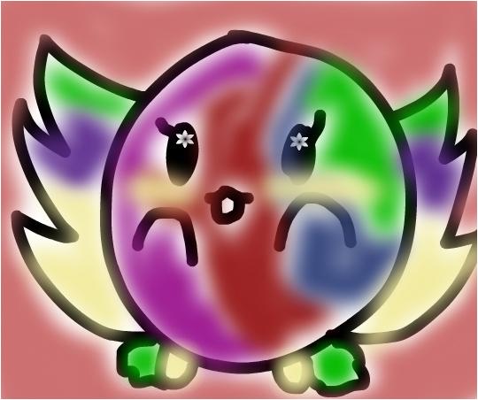 rainbow blob