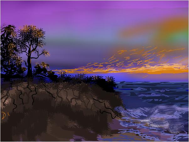 Erosion raging Sunset