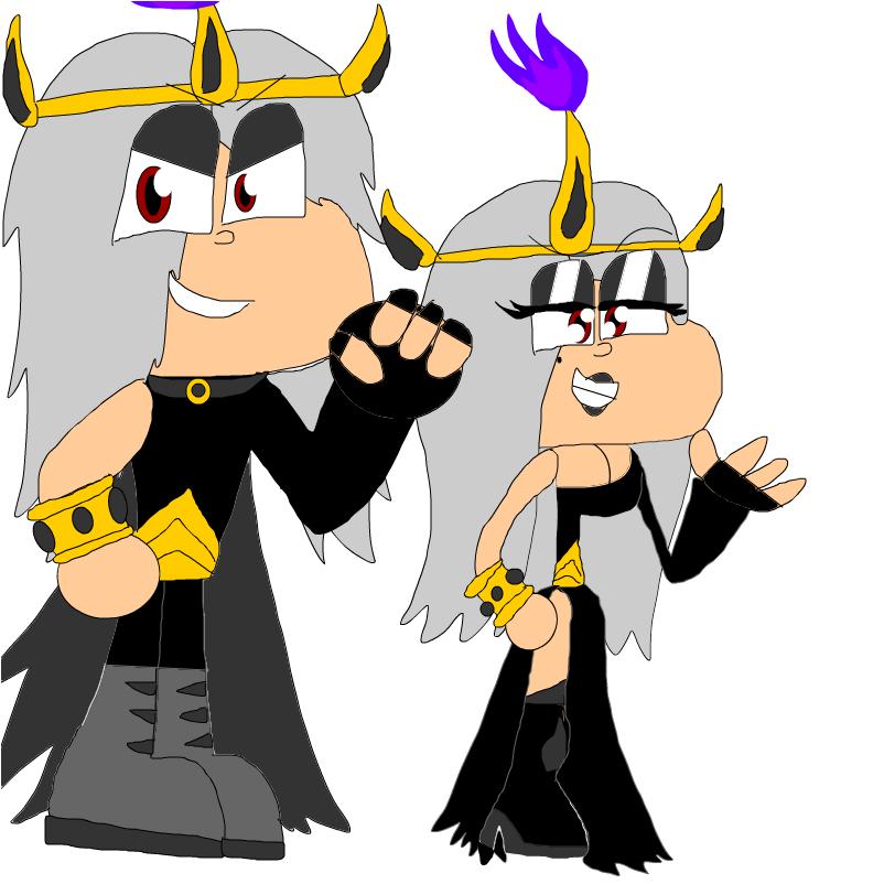 the evil twins Xyon and Minga