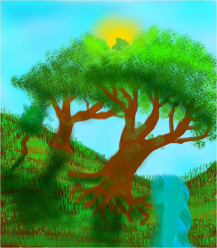 Деревья реалистичные и красивые