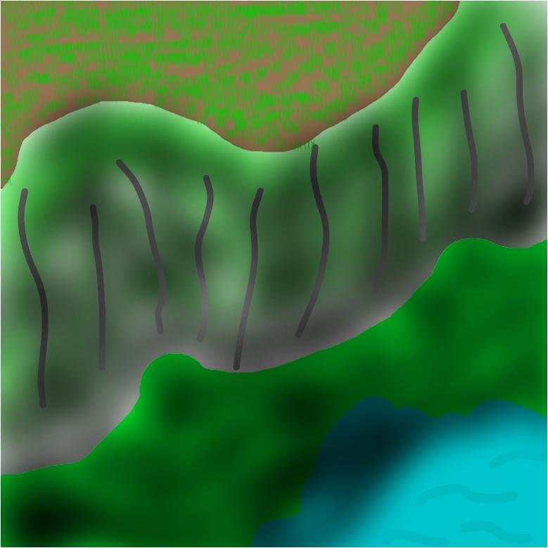 ЗЕЛЁНАЯ скала. (green)