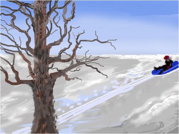 Michael having fun in the snow