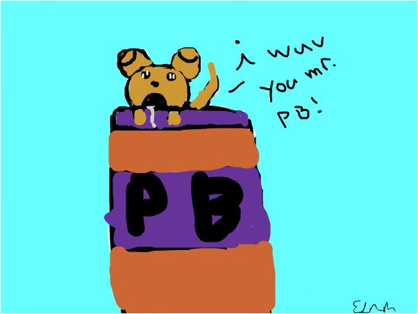 puppy wants P.B
