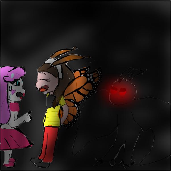 pink vs mothman y mariposas