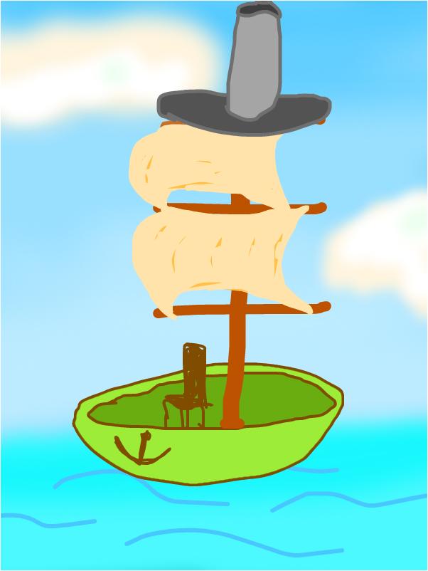 корабль в ЦИЛЛИНДРЕ