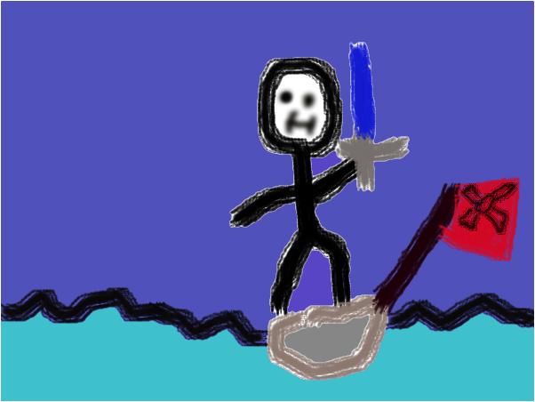 pirate stick man