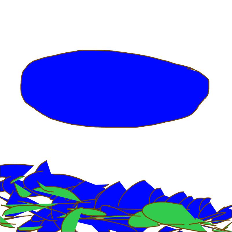 синий овал