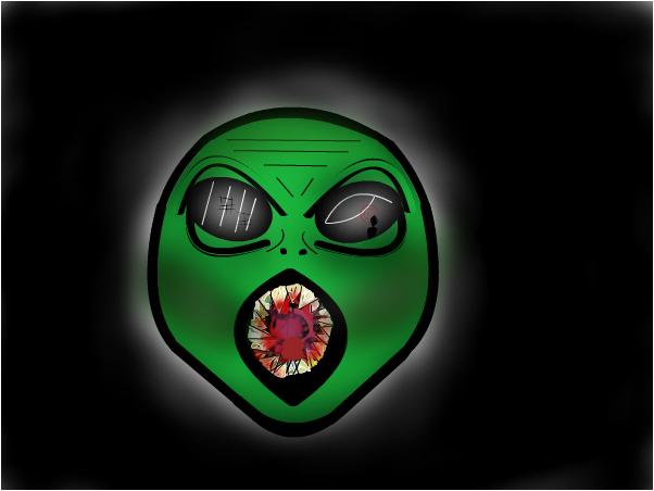 Alien bouta eat u