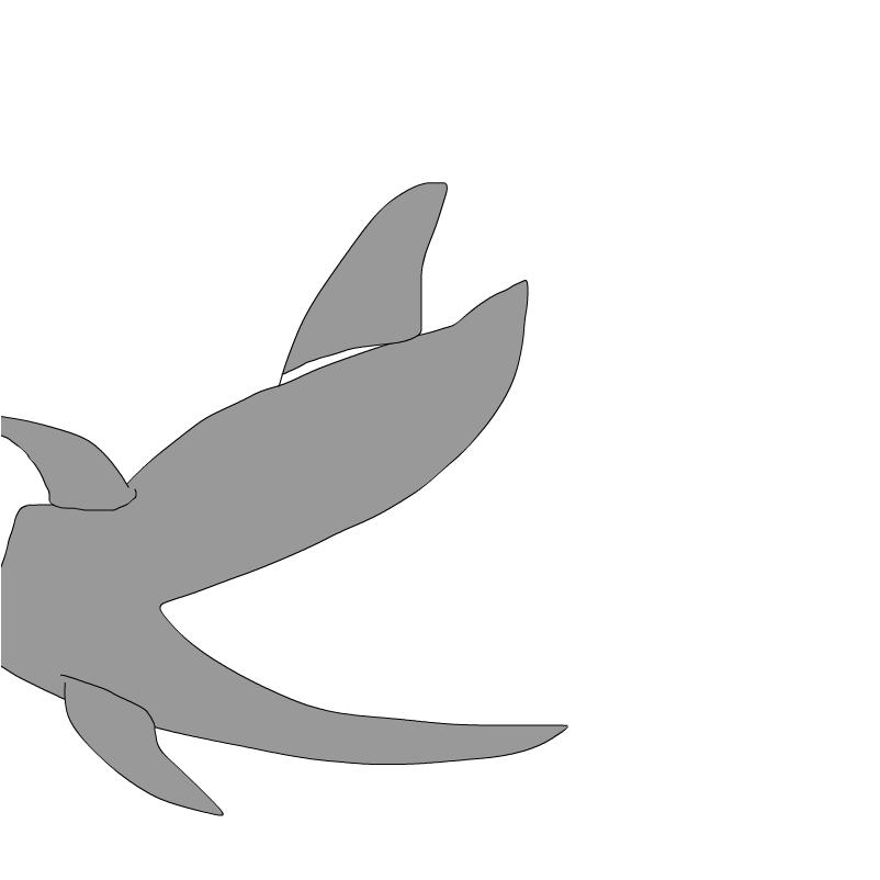shark puppet siloette
