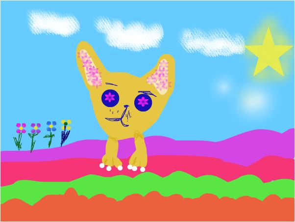 Cat Yelow eve bly
