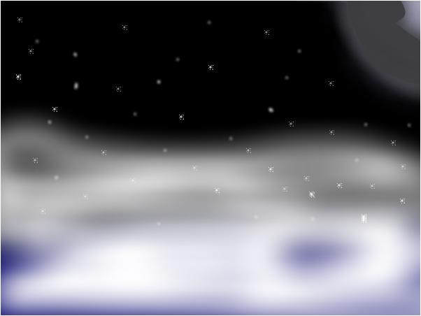 Звёзды, луна и туманность