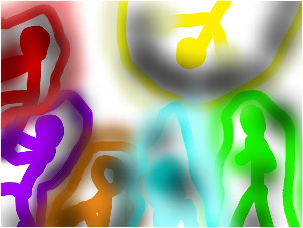 5 человечков и +1  человечеГ