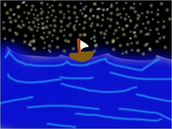 Noche en el mar UwU