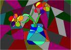 Cubism flowers