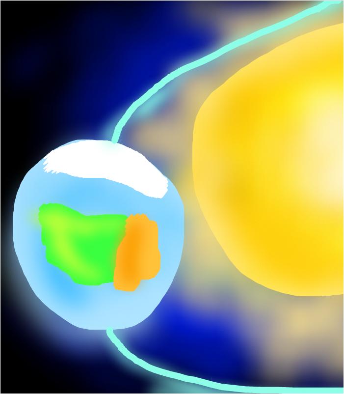Планета Земля и Солнце