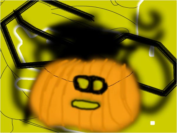 Masked Pumkin with random background