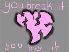 You Break it You Buy it