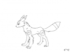 Uncolored Umbreon