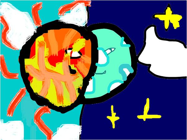 Sun and Moon In War!       :3