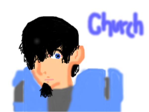 red vs blue Churc fanart
