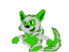 the asome green wolf