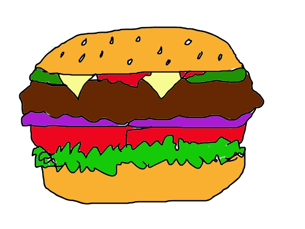 attempt to draw a burger