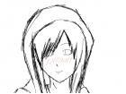 Hooded Girl Sketch