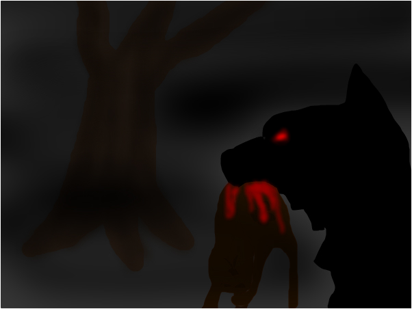 The Creepy Evil Wolf