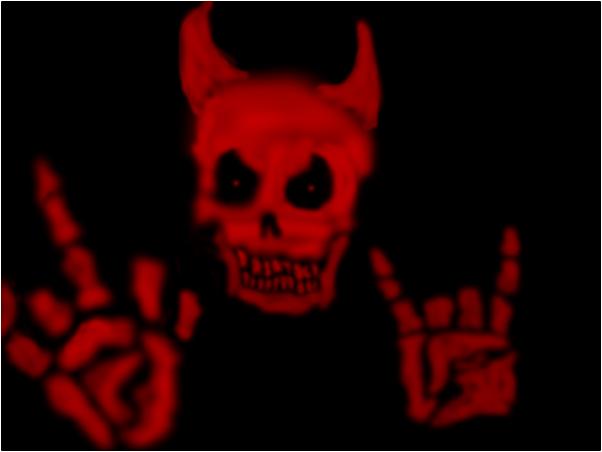 RED DEVIL SKULL