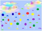 Raining gumdrops and lollipops
