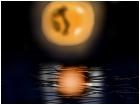 moon on lake
