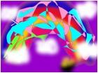 cubism art-Rainbow