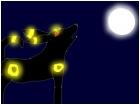 Umbreon howling at moon