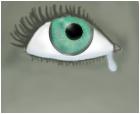 A crying eye.