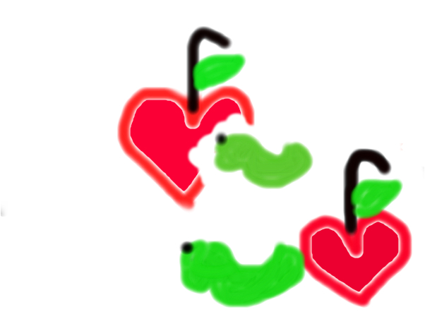 worms&apple