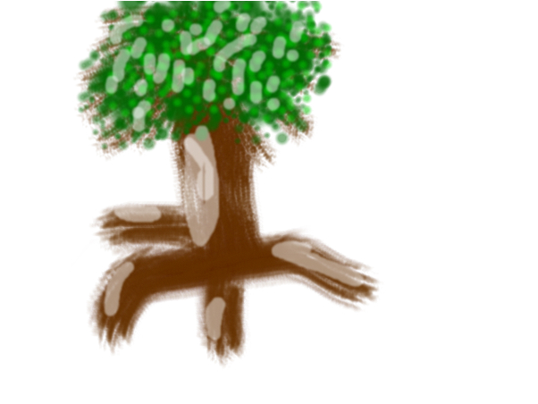 how to draw a half decent tree