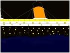 titanic hitting an ineberg