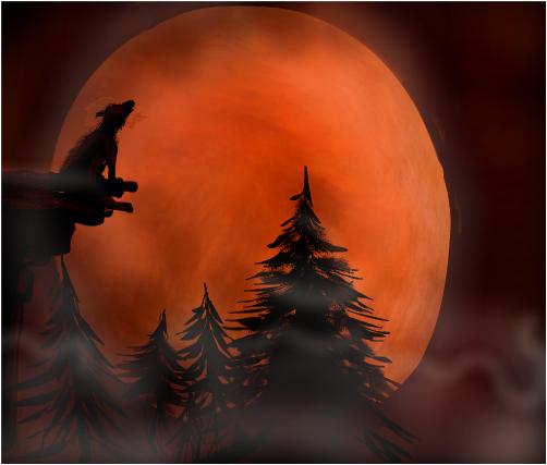 Foggy Harvest Moon