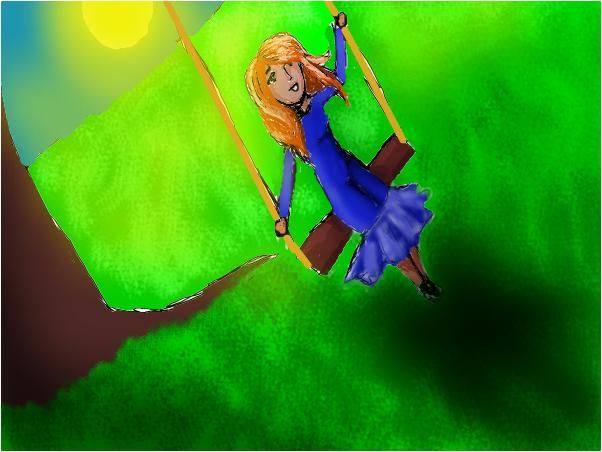 girl on a swing 4 BlueRose
