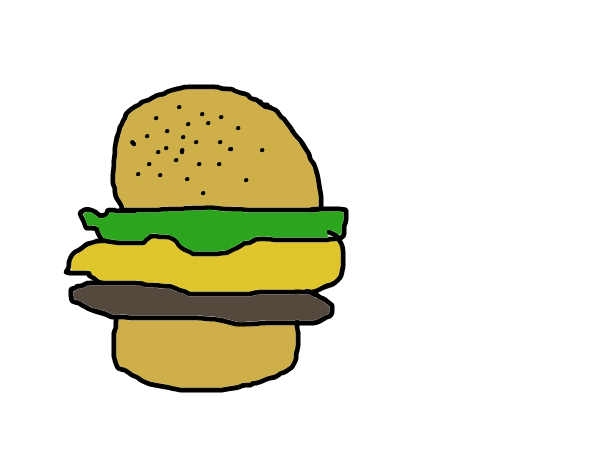 bun lettus burger and bun