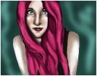 self portrait if I had pink hair